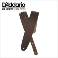 Basic Classic Leather Guitar Strap, 25BL01 Brown